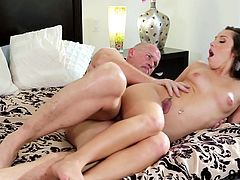 Check out this juicy twat getting stretched by one massive cock