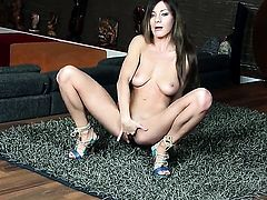 Alice Romain touches her hole and boobs playfully