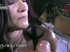 This MILF meets up with her favorite singer backstage and ends up riding his cock while he films the entire thing on her camera.