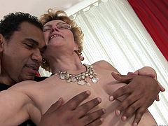 Make sure you have a look at this hardcore interracial scene where this horny granny takes a pounding from a big black cock.