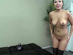 Check out this hot POV where the sexy Gia Grace sucks on this guy's big fat cock until her pretty little mouth's filled by cum.