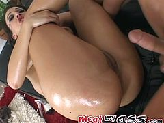 Fabulously loose dirty hole of that well shaped busty cutie got energetically invaded by that horny man in missionary way. Look at this filthy sex pot in My XXX Pass sex video!