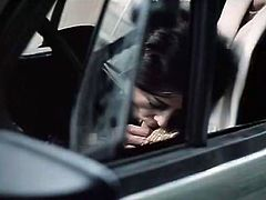 Hot blowjob in car was not enough for insatiable kinky unattractive guy. He went on by inviting sexy brunette tootsie and blond head bonny babes to suck his sausage passionately. Take a look at this hot stud in The Classic Porn sex clip!