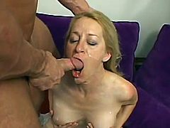 This mature slut loves sex more than anything else in this world despite her age. She has a wild anal sex and gets her mouth filled with a big load of cum.
