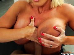 Bruce Venture gets his always hard snake used by Exotic Alura Jenson with bubbly ass