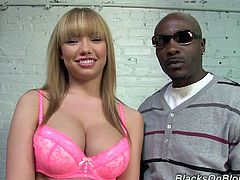 Dogfart takes us behind the scenes with mega hottie and squishy Maya Hills! She is about to do a scene with a big black dude and talks about it!
