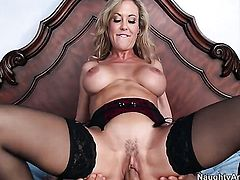 Brandi Love fucks the sperm out of Giovanni Francescos sausage