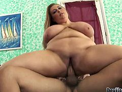 Long haired light head rapacious chubby sex pot with monstrous Monkey Lumps gets her smelly flaccid snatch energetically massaged in reverse cowgirl pose by huge pecker. Watch this fat torrid babe in Fame Digital porn video!