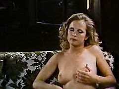 Watch this horny babe poking her fingers into her wet and tight pussy in front of the camera in The Classic Porn.