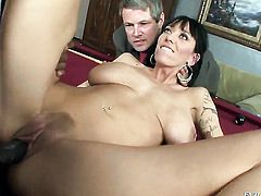 Sean Michaels uses his throbbing fuck stick to make blowjob addict Alia Janine happy