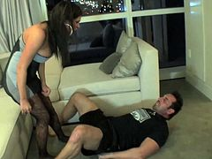 Nasty wife is in great need to make this guy obey her nasty desires