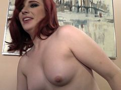 This hot pornstar gives a candid conversation behind the fuck scenes about what she uses her hot body for! Hot redhead and perky tits!