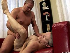 Hot tempered dude fucks busty grannie missionary style and then penetrates her twat in doggy position. Don't skip this provocative grannie sex tube video for free.