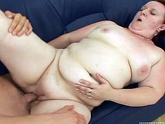 Take a look at this hardcore scene where the horny mature redhead is fucked by this guy after she gives him head.