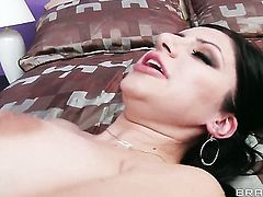 Sativa Rose with giant tits makes Keiran Lees love torpedo harder before she takes it in her mouth