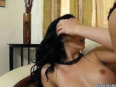 Angell Summers with big hooters and clean bush is addicted to fuck and Johnny Castle knows it