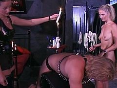 Dude agreed to be chained and slaved by the two hot ladies. He was brutally punished and he enjoyed what he wanted.