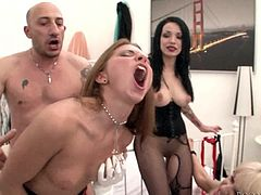Have fun watching this hardcore scene where these slutty ladies show off their amazing bodies while taking turns to get fucked by this guy.