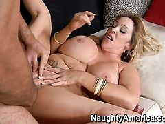 Kandi Cox shows off her sexy body as she gets banged hard and deep by Charles Dera