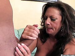 Margo Sullivan is a blowjob addict that loves guys stiff meat stick