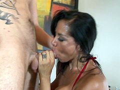 Have fun busting a nut with this hardcore scene where the busty milf Viana Milian is fucked silly by a stud as you hear her moan.