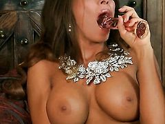 Madison Ivy with gigantic hooters and bald pussy wants this solo sex session to last forever