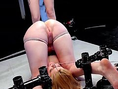 These babes along their toys are providing naughty action in lesbian show