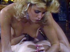 Light haired well graced insatiable blond hootchie energetically titfucks and greedily swallows hot blooded throbbing penis. Take a look at this blond bitch in The Classic Porn sex clip!