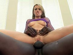 Holly takes a BBC up her tight ass