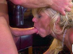 She is such a luxury blond named Katie Morgan! Honey got shapes and she is so fucking sporty! So, here is her man, sticking his cock right in her muff.