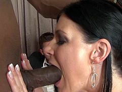 Its amazing how she bangs her cunt while hubby sits and watches