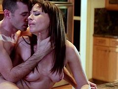 Watch this staggering beauty while getting ravaged by her step son