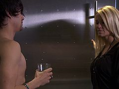 A steaming and sizzling blond angel Tasha Reign gets it hard