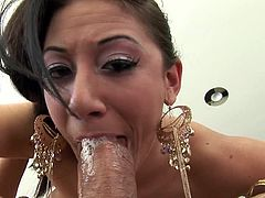 She is more than eager to feel the creamy load splashing her hard