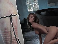 Heather Vandeven with huge jugs and bald cunt cant live a day without playing with her hole
