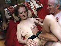 DO not think this LinDa this guyre is the Fragile grAnny for sthat guy's definitely not. that Horny grandMa Even MAnages to service 2 Cute Boys by sucking 1 of thEm wHile having that chabr pussy fucked. watch that hot Mature writthis person and Moan as this babe's filled hard inside tsalutes hot threesome.