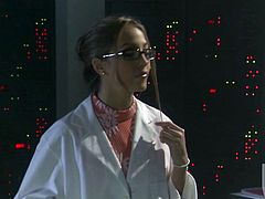 Jenna Haze looks all kinds of nerdy hot as a scientist who would rather suck cock and fuck than work in the lab and figure out formulas.