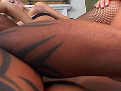 Lucky black guy gets to stuff some hot blonde ass in a great group scene.