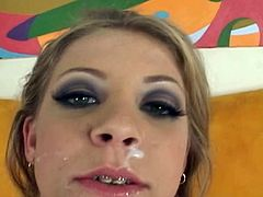 Leah Luv is a true master in making cocks cum hard down her needy mouth