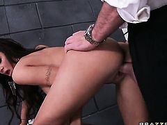 Charles Dera uses his erect love wand to bring Amy Ried with juicy boobs to the edge of nirvana