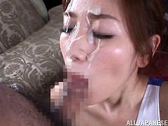 Gorgeous and petite siren Kaori Maeda is going to have a lot of fun today! She gets naked and starts enjoying what happens in her pussy.