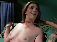 Awesome ginger honey has Toyed And Fisted inside female domination movie