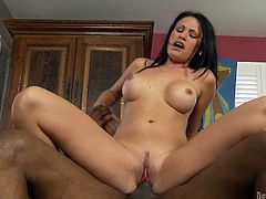 A cum-loving slut with a dripping-wet sweet pink juicy pussy sucks on a guy's throbbin' erection and then gets that salivated hard cock shoved balls deep into her slippery box.