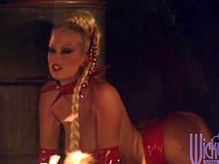 Jenna Jameson is the Hot Leather Clad Demon Slut Fucking in Pigtails and High Heels!