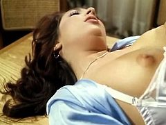 Filth and kinky brunettes with sexy shapes take off their clothes and licks each oyher clits in turn. Watch at this girls in steamy The Classic Porn xxx clip.