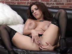 Incredibly sexy temptress Sabrina Maree has a lot of sexual energy to spend and does it alone!