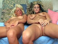 They love to play together and pose their pink vags on cam