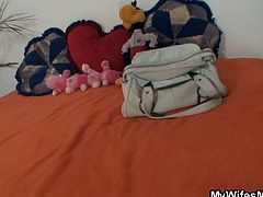 Jessika has invited her daughter and her boyfriend over to her place for a nice dinner. While mom and daughter are chatting on the couch the boyfriend heads into the bedroom and rummages through the mom's purse looking for money to steal. Uh oh, he's been caught and now he is going to be punished with rough sex.