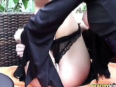 Blonde Molly Cavalli does striptease before she sticks her fingers in her honeypot