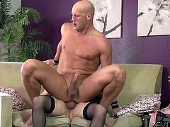 Make sure you have a look at this hot scene where the busty shemale Jesse Flores gets head from a guy before he rides her big cock.